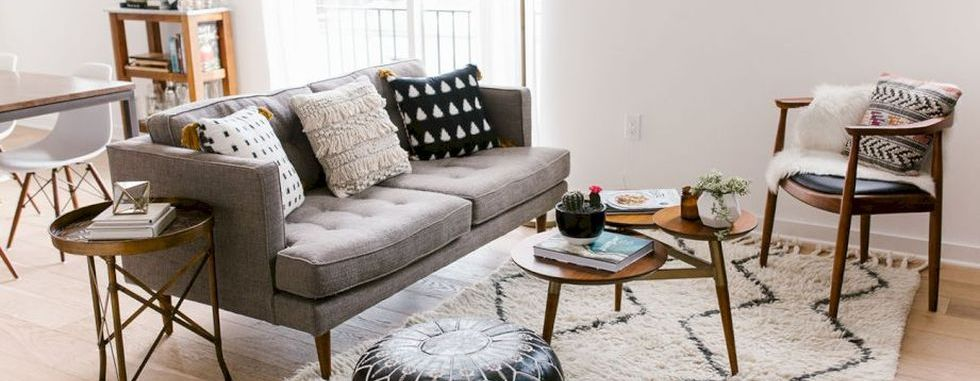 Furniture on budget for apartment living room
