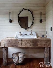 Rustic farmhouse style bathroom design ideas 5
