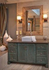 Rustic farmhouse style bathroom design ideas 60