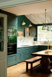 Rustic And Classic Wooden Kitchen Cabinet 24