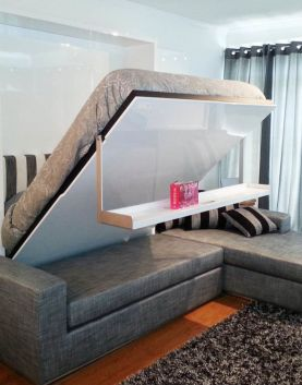Saving space with creative folding bed ideas 21