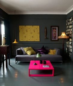 Inspiring Contrast Color Interior Design 13