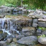 Make a mini waterfall in the garden 5