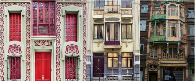 Art nouveau building architecture design