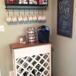 Corner bar cabinet for coffe and wine places 1