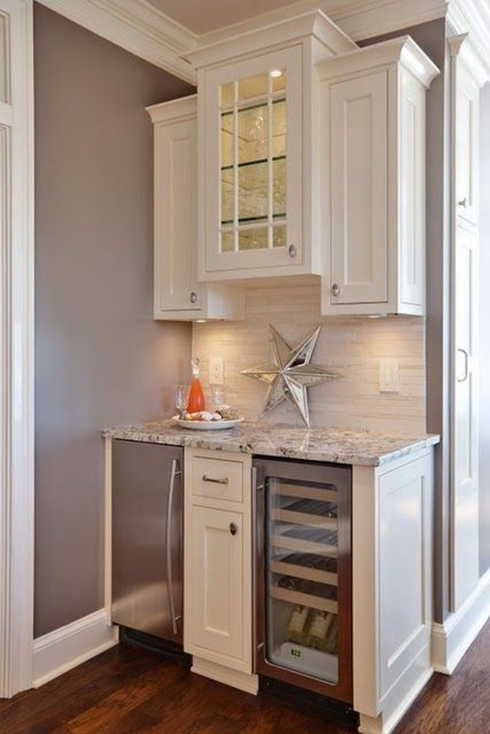 Corner bar cabinet for coffe and wine places 3