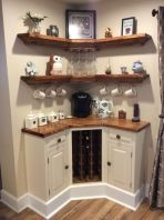 Corner bar cabinet for coffe and wine places 2