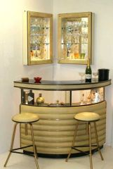 Corner bar cabinet for coffe and wine places 20