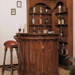 Corner bar cabinet for coffe and wine places 24