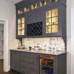 Corner bar cabinet for coffe and wine places 26