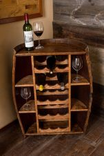 Corner bar cabinet for coffe and wine places 27
