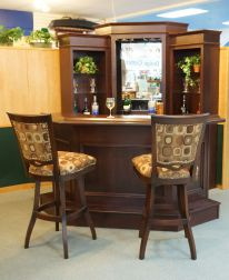 Corner bar cabinet for coffe and wine places 34