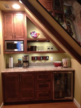 Corner bar cabinet for coffe and wine places 5