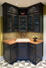 Corner bar cabinet for coffe and wine places 9