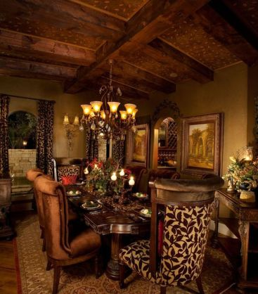 Glorious and Luxury Western Dining Room Design 18