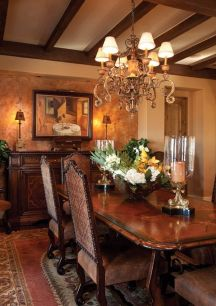 Glorious and Luxury Western Dining Room Design 25