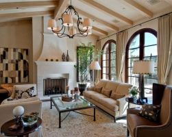 Modern Mediterranean Living Room Interior and Decorations 26