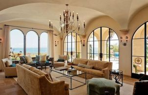 Modern Mediterranean Living Room Interior and Decorations 35