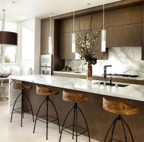 Modern and Contemporary Kitchen Cabinets Design Ideas 62
