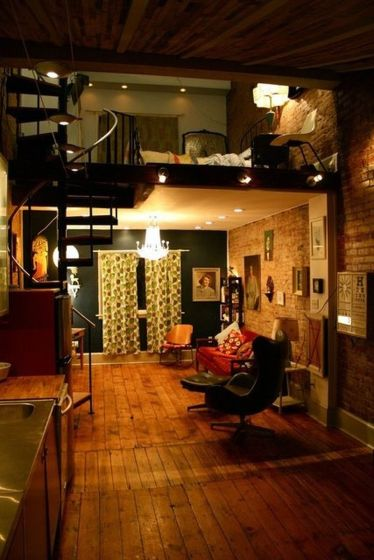 One room apartment layout design ideas 11