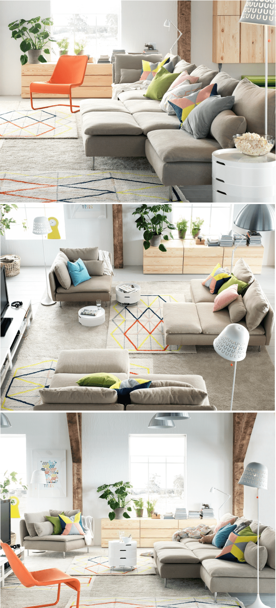 One room apartment layout design ideas 2