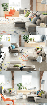 One room apartment layout design ideas 17