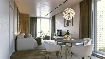 One room apartment layout design ideas 25