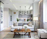 One room apartment layout design ideas 46