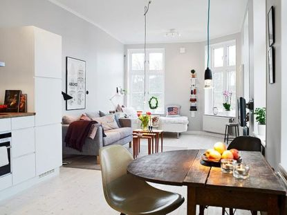 One room apartment layout design ideas 55