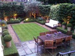 Small courtyard garden with seating area design and layout 5