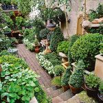 Small courtyard garden with seating area design and layout 83