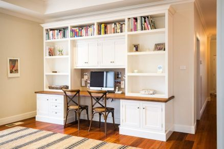 Awesome Built In Cabinet and Desk for Home Office Inspirations 10