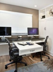 Awesome Built In Cabinet and Desk for Home Office Inspirations 15