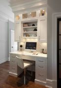 Awesome Built In Cabinet and Desk for Home Office Inspirations 20