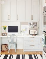 Awesome Built In Cabinet and Desk for Home Office Inspirations 33