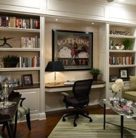 Awesome Built In Cabinet and Desk for Home Office Inspirations 34