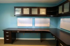 Awesome Built In Cabinet and Desk for Home Office Inspirations 37