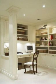 Awesome Built In Cabinet and Desk for Home Office Inspirations 43