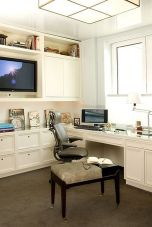 Awesome Built In Cabinet and Desk for Home Office Inspirations 50