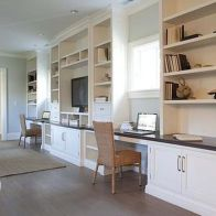 Awesome Built In Cabinet and Desk for Home Office Inspirations 63