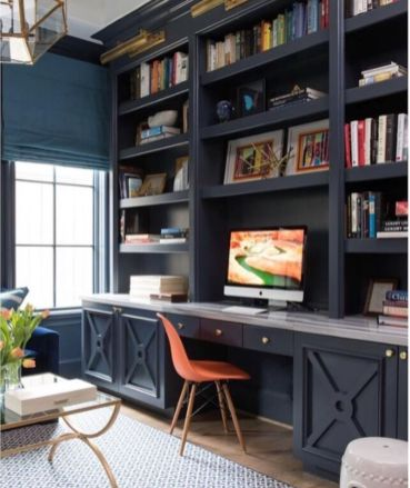 Awesome Built In Cabinet and Desk for Home Office Inspirations 70