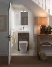 Awesome Cool Ideas To Make Toilet Room Under Stairs 2