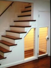 Awesome Cool Ideas To Make Dog House Under Stairs 3