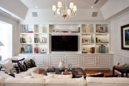 Brilliant Built In Shelves Ideas for Living Room 7