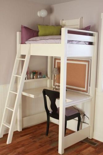 Cool Loft Bed Design Ideas for Small Room 23