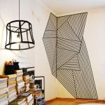 Inspiring Creative DIY Tape Mural for Wall Decor 11