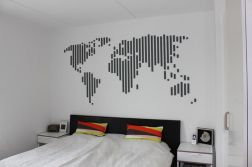 Inspiring Creative DIY Tape Mural for Wall Decor 24
