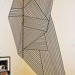 Inspiring Creative DIY Tape Mural for Wall Decor 36