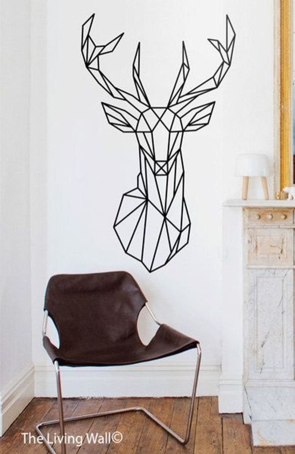 Inspiring Creative DIY Tape Mural for Wall Decor 43