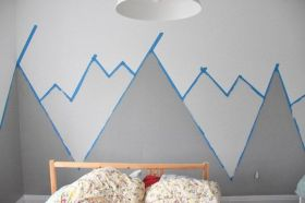 Inspiring Creative DIY Tape Mural for Wall Decor 49